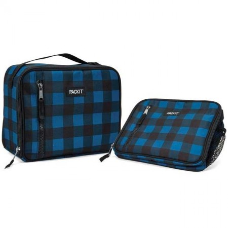 PackIt Freezable Classic Lunch Box - Navy Buffalo