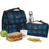 Packit Freezable Lunch Bag - Navy Buffalo