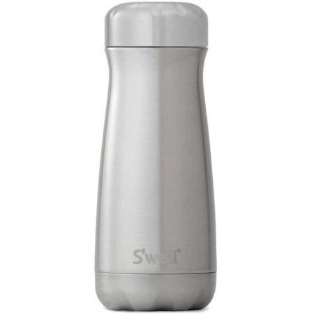 S'Well Traveller Insulated Stainless Steel Bottle 470ml - Silver Lining