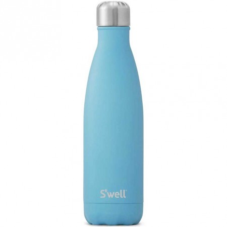 S'Well Insulated Stainless Steel Water Bottle 500ml - Blue Fluorite