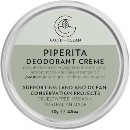 Good + Clean Natural Deodorant Creme - Piperita