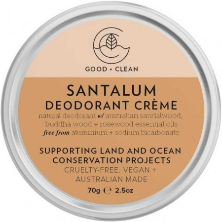 Good + Clean Natural Deodorant Creme - Santalum