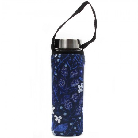BBBYO Glass Bottle Carry Cover 570ml - Bloom