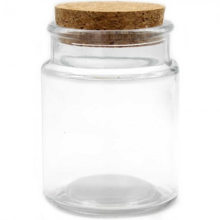 Reusable Clear Glass Jar with Cork 140ml DISC