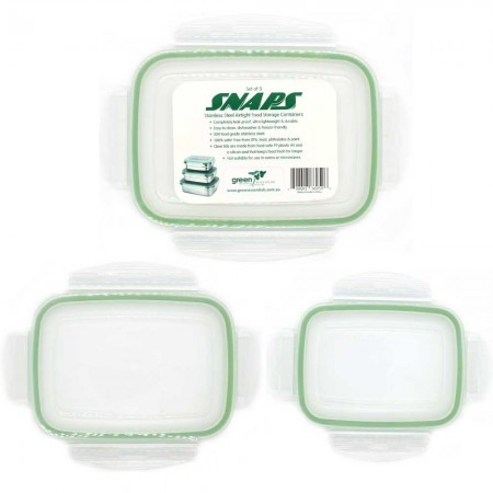 Green Essentials Snaps Replacement Nesting Lids - Set of 3