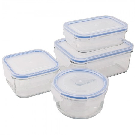 Glasslock Classic Mixed Container 4 Piece Set - Blue Seal
