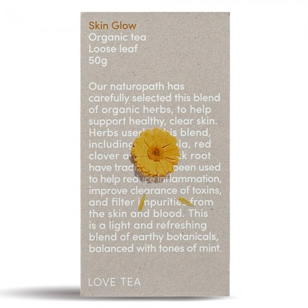 Love Tea Organic Loose Leaf Tea 50g - Skin Glow