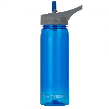 EcoVessel Tritan Water Bottle 750ml - Boulder Blue