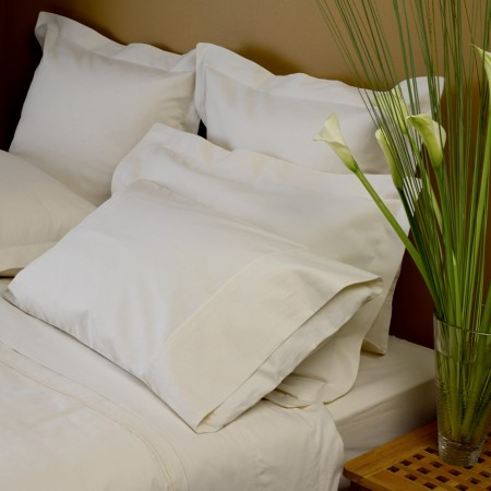 Hemp-organic cotton pillowcase pair - oxford