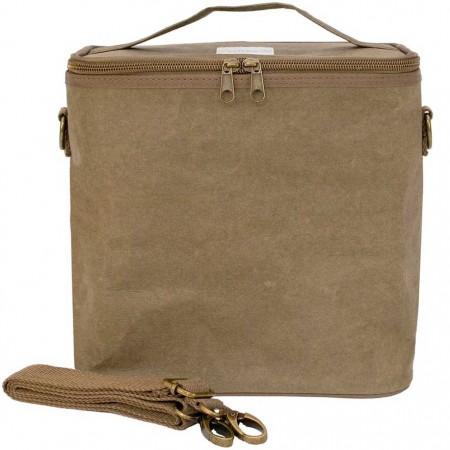 SoYoung Lunch Poche Large Insulated Cooler Bag - Olive Paper