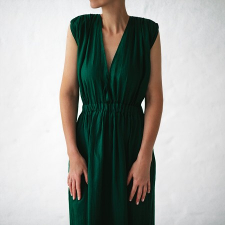 Seaside Tones Column Dress Green