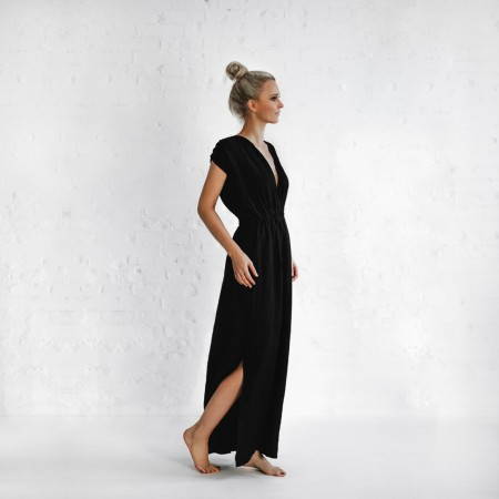 Seaside Tones Column Dress Black