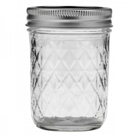 Ball Mason jar Half Pint 240ml 8oz regular mouth quilted