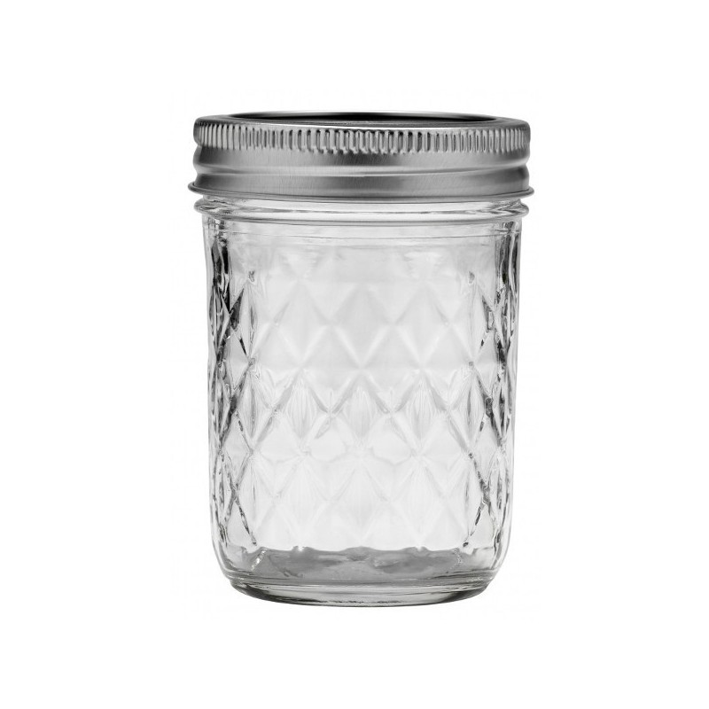 ball mason jar half pint 240ml 8oz regular mouth quilted biome. Black Bedroom Furniture Sets. Home Design Ideas