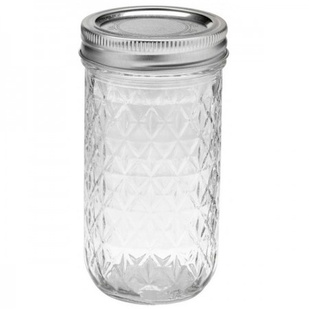 Ball Mason Regular Mouth Jar 12oz 340ml - Quilted