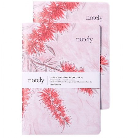 Notely Notebook Set A5 - Bottle Blush Lined