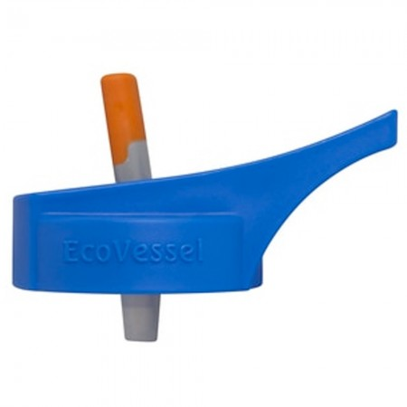 EcoVessel Kids Replacement Lid - Blue with Orange Spout