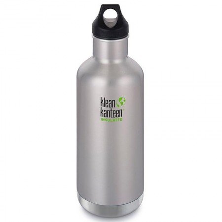 Klean Kanteen Insulated Classic Loop Water Bottle 32oz 946ml - Brushed Stainless