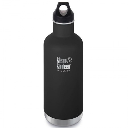Klean Kanteen Insulated Classic Loop Water Bottle 32oz 946ml - Shale Black (Klean Coat)