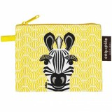 Coq en Pate Organic Cotton Flat Purse - Zebra