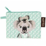 Coq en Pate Organic Cotton Flat Purse - Koala