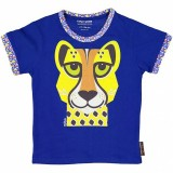 Coq en Pate Organic Cotton T-Shirt - Cheetah Size 6