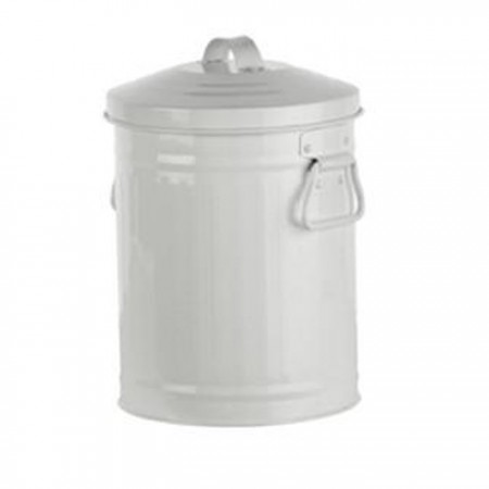 Retro Kitchen Scrap Compost Bin - White
