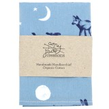 Organic Cotton Handkerchief - Coyote Moon