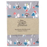 Organic Cotton Handkerchief - Mushrooms
