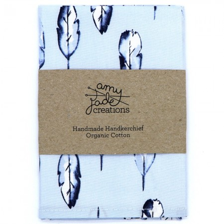 Organic Cotton Handkerchief - Feather