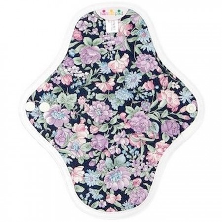 Hannahpad Small Cloth Pad 2pk - Carnation Black with Grip
