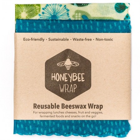 Honeybee Beeswax Food Wraps - Twin Set Small