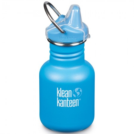 Klean Kanteen Stainless Steel Water Bottle Sippy Cap 12oz 355ml - Pool Party (Klean Coat)