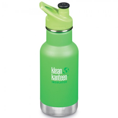 Klean Kanteen Insulated Stainless Steel Water Bottle Sports Cap 12oz 355ml - Lizard Tails (Klean Coat)