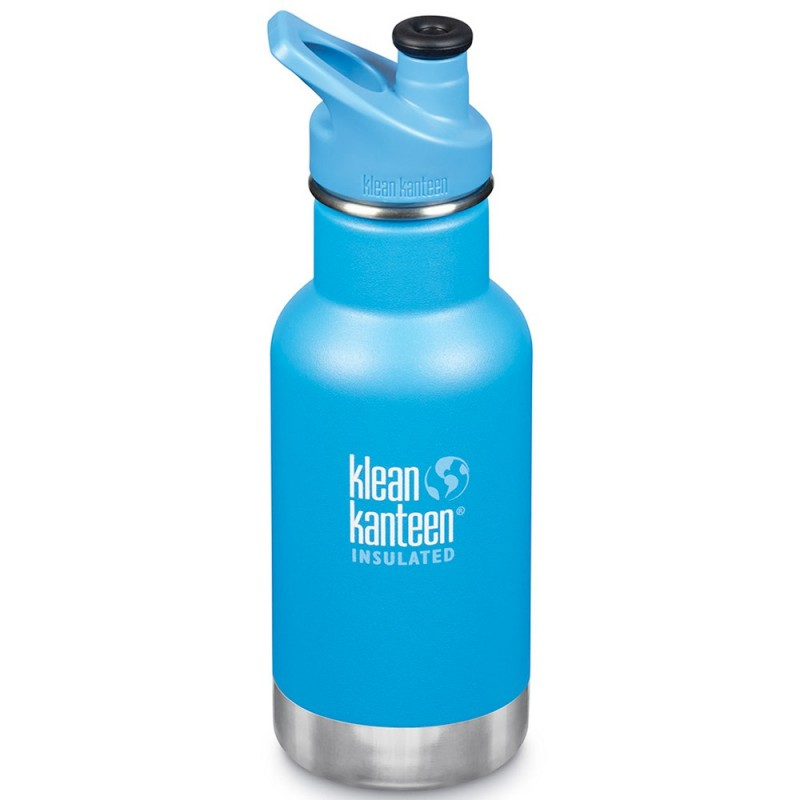 Klean Kanteen Insulated Stainless Steel Water Bottle Sports Cap 12oz 355ml - Pool Party (Klean Coat)