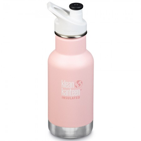 Klean Kanteen Insulated Stainless Steel Water Bottle Sports Cap 12oz 355ml - Ballet Slipper (Klean Coat)