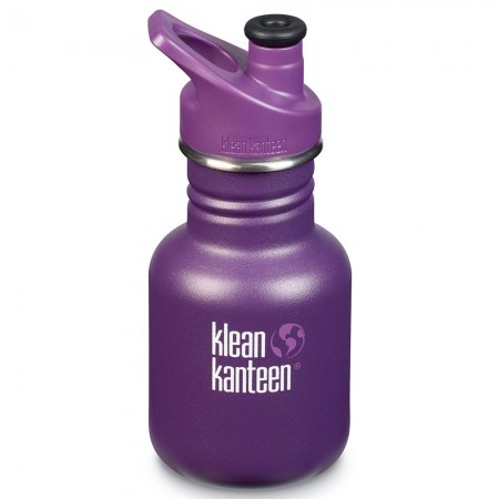 Klean Kanteen Stainless Steel Water Bottle Classic 12oz 355ml - Grape Jelly (Klean Coat)