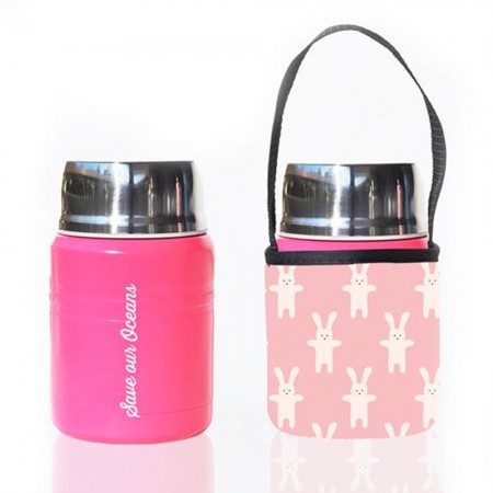 BBBYO Stainless Steel Foodie with Cover 500ml - Rabbit
