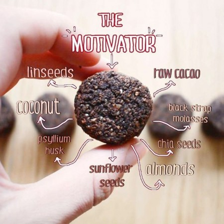 The Motivator Raw Cacao Smoothie Bomb