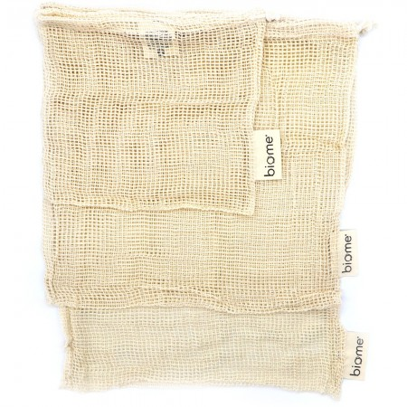 Biome Organic Cotton Mesh Produce Bags - Set of 3