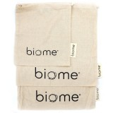 Biome Organic Cotton Muslin Produce Bags - Set of 3