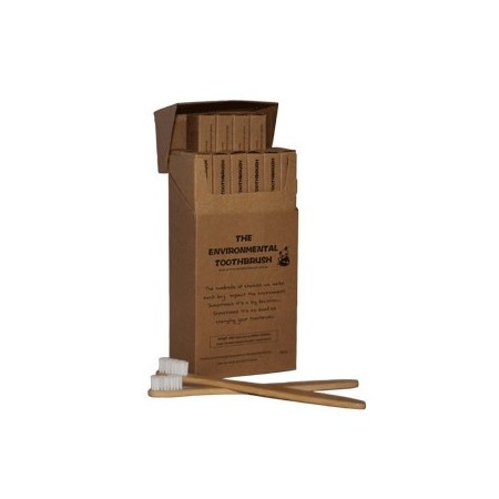 Bamboo Toothbrush Adult Soft Box 12