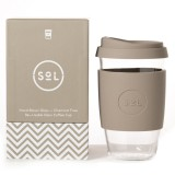 SOL Large Glass Coffee Cup 475ml 16oz - Seaside Slate