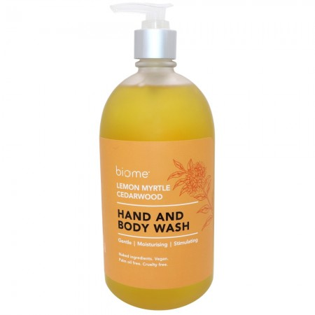 Biome Hand & Body Wash 500ml - Lemon Myrtle & Cedarwood