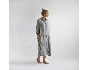 Seaside Tones Oversized Dress Light Grey