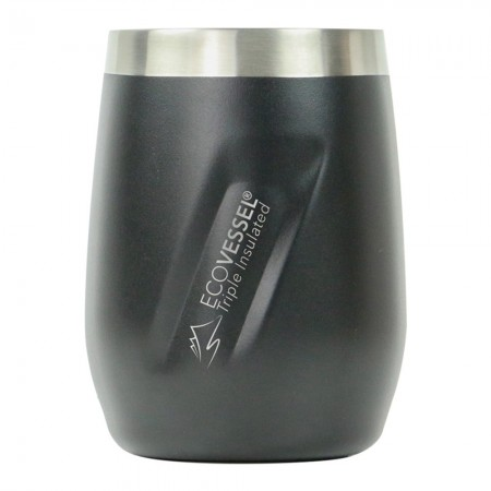 EcoVessel Port Insulated Tumbler 296ml/10oz - Black Shadow