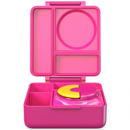 OmieBox Hot & Cold Bento Lunch Box - Pink Berry
