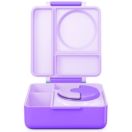 OmieBox Hot & Cold Bento Lunch Box - Purple Plum