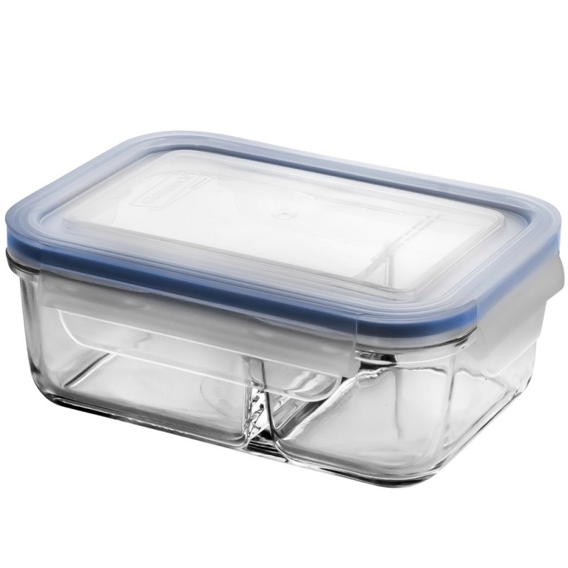 Glasslock Duo Blue Seal Container - Two Section 670ml