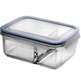 Glasslock Duo Blue Seal Container - Two Section 1000ml